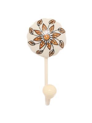 Вешалка-крючок ГАНГ. Цвет: светло-коричневый, белый