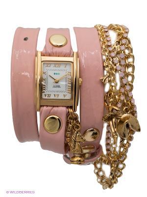 Часы La Mer Collections. Цвет: бледно-розовый, золотистый