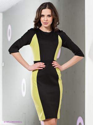 Платье LuAnn. Цвет: салатовый, черный