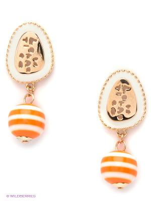 Серьги Lovely Jewelry. Цвет: оранжевый