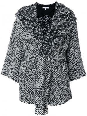 Текстурное пальто Iro. Цвет: чёрный
