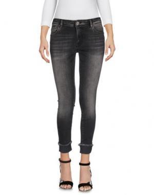 Джинсовые брюки-капри ONLY BLU. Цвет: черный
