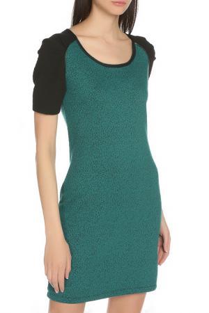 Летнее прилегающее платье Scotch&Soda. Цвет: зеленый