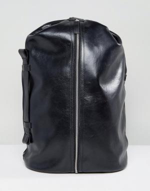 Royal RepubliQ Кожаный рюкзак Supreme. Цвет: черный