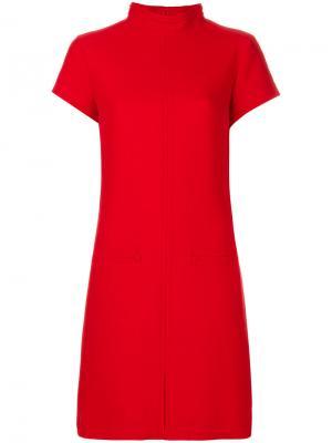 Платье-свитер с высоким воротником Courrèges. Цвет: красный