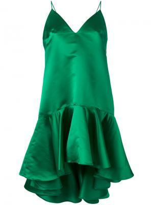 Мини-платье Pumba Maria Lucia Hohan. Цвет: зелёный