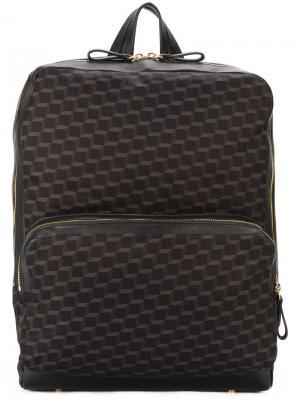 Рюкзак с геометрическим принтом Pierre Hardy. Цвет: чёрный