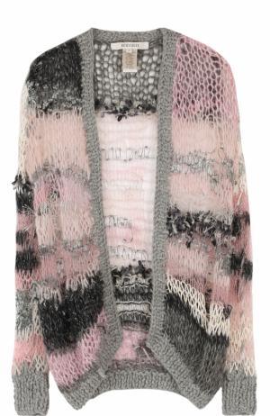 Шерстяной кардиган фактурной вязки Rodarte. Цвет: розовый