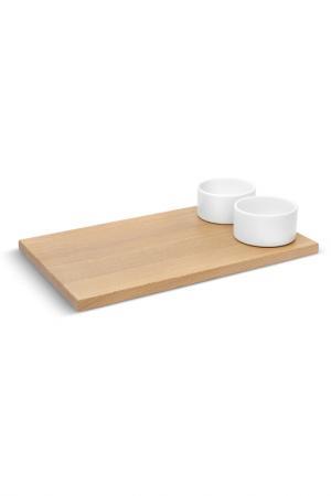 Доска для хлеба с соусницами UMBRA. Цвет: белый