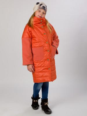 Стеганое пальто MARIELA. Цвет: терракотовый