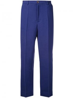 Укороченные брюки Erika Cavallini. Цвет: синий