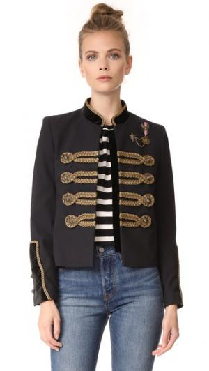 Куртка в стиле милитари The Kooples. Цвет: голубой