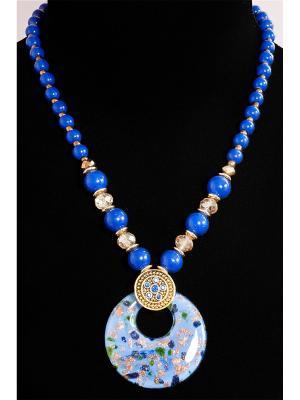 Колье из муранского стекла Castlelady. Цвет: синий, бронзовый, темно-синий
