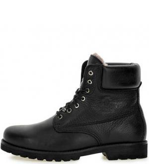 Высокие утепленные ботинки из натуральной кожи Panama Jack. Цвет: черный