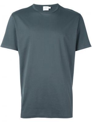 Футболка S/S Sunspel. Цвет: серый