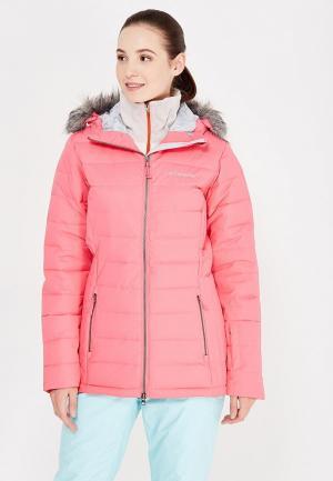 Куртка горнолыжная Columbia. Цвет: розовый