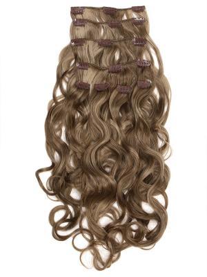 Накладные волосы, пряди на заколках-клипсах Lana VIP-PARIK. Цвет: светло-коричневый, белый, молочный