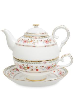 Чайный набор Милано-Мариттима (Milano Marittima Pavone) Pavone. Цвет: белый, золотистый, розовый