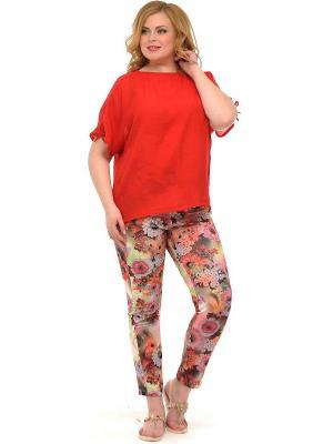 Блузка SVESTA. Цвет: красный