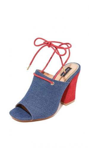 Туфли на каблуках Pinnacle из денима JAGGAR. Цвет: деним