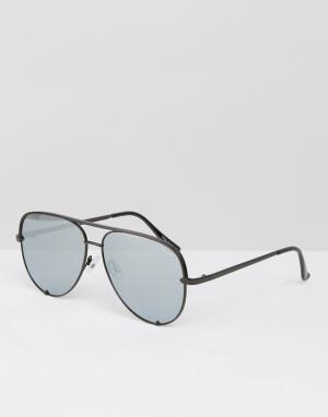 Quay Australia Черные солнцезащитные очки-авиаторы x Desi. Цвет: черный