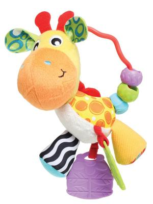 Playgro Погремушка Жираф. Цвет: зеленый, желтый, красный