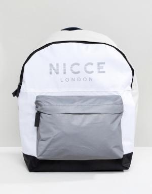 Nicce London Белый рюкзак со светоотражающим логотипом. Цвет: белый