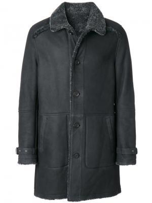 Пальто с панельным дизайном Yves Salomon. Цвет: серый