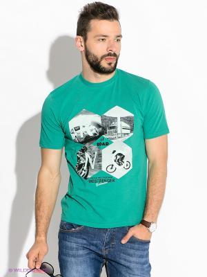 Футболка Westrenger. Цвет: зеленый