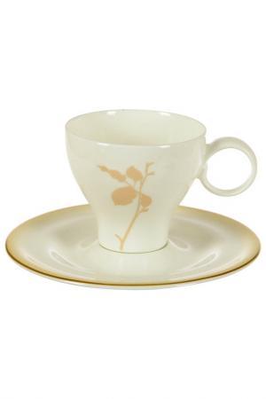 Набор чайных пар, 6 шт Tognana. Цвет: бежевый
