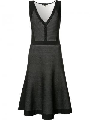 Расклешенное платье с плиссированным подолом Narciso Rodriguez. Цвет: чёрный