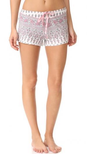 Пижамные шорты с цветочным узором «павлиний глаз» PJ Salvage. Цвет: коричневый