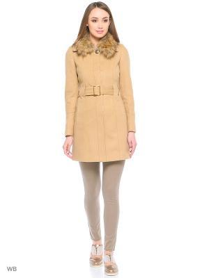 Пальто Fly Girl. Цвет: коричневый