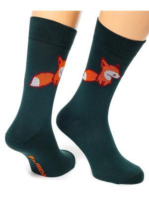 Дизайнерские Носки St.Friday Socks. Цвет: морская волна