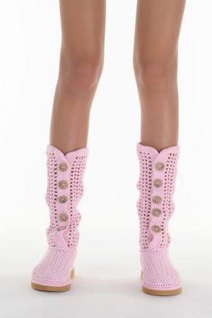 Сапоги высотой до колена Livs. Цвет: светло-розовый