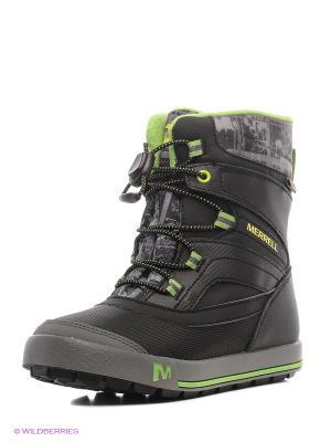 Ботинки MERRELL. Цвет: черный, зеленый, серый