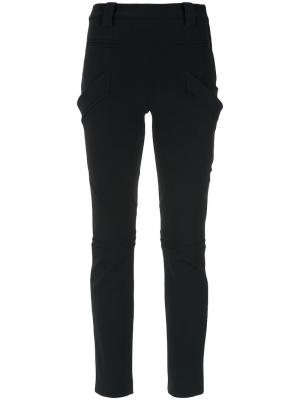 Straight trousers Gloria Coelho. Цвет: чёрный