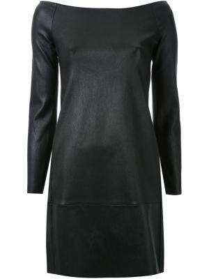 Платье с открытыми плечами Scanlan Theodore. Цвет: чёрный