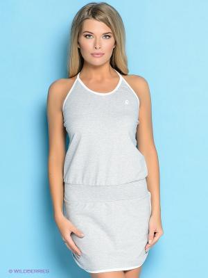 Платье EMDI. Цвет: серый