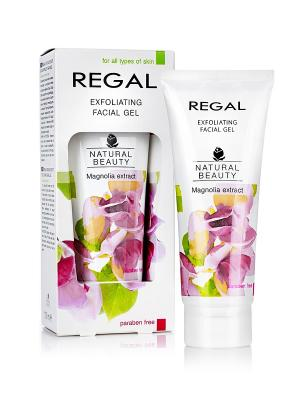 Эксфолирующий гель для лица всех типов кожи REGAL NATURAL BEAUTY, 100мл., (Болгария). Цвет: зеленый