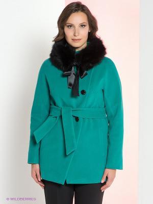 Пальто Klimini. Цвет: зеленый