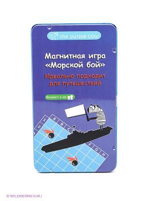 Магнитная настольная игра Морской Бой. THE PURPLE COW. Цвет: фиолетовый