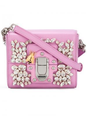 Декорированная сумка Lucia Dolce & Gabbana. Цвет: розовый и фиолетовый