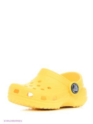 Сабо CROCS. Цвет: желтый, светло-желтый