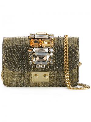 Мини сумка через плечо  Cliky Gedebe. Цвет: металлический