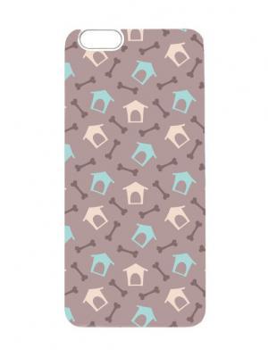 Чехол для iPhone 6Plus Будки и косточки Арт. 6Plus-030 Chocopony. Цвет: серый, розовый