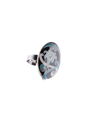 Кольцо Clara Bijoux. Цвет: черный, бирюзовый, синий