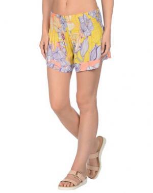 Пляжные брюки и шорты MISS BIKINI. Цвет: желтый