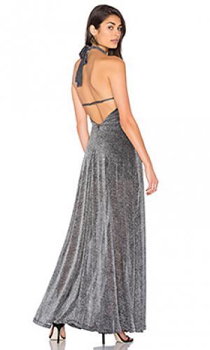 Платье холтер cadillac LIONESS. Цвет: уголь