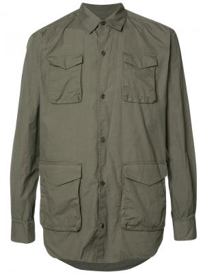 Рубашка с накладными карманами Undercover. Цвет: зелёный